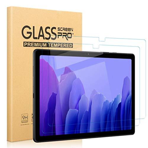 [2 Stück] Panzerglas Bildschirmschutzfolie kompatibel für Samsung Galaxy Tab A7 2020, SM-T500,T505,T507, Klar 9H Festigkeit Anti-Bläschen Kratzresistent Schutzfolie für Samsung Galaxy Tab A7 2020 10.4