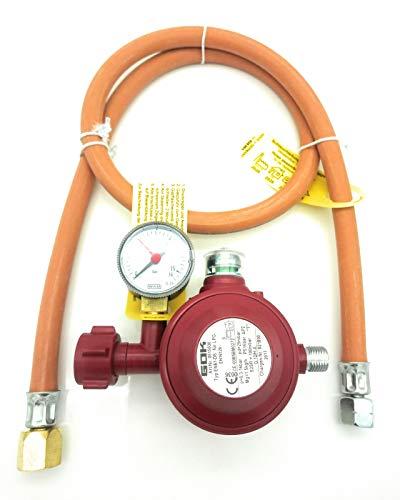 Adapter für USA BBQ Gasgrills - 1m Schlauch inkl. 30 mbar 2 Stufen Regler