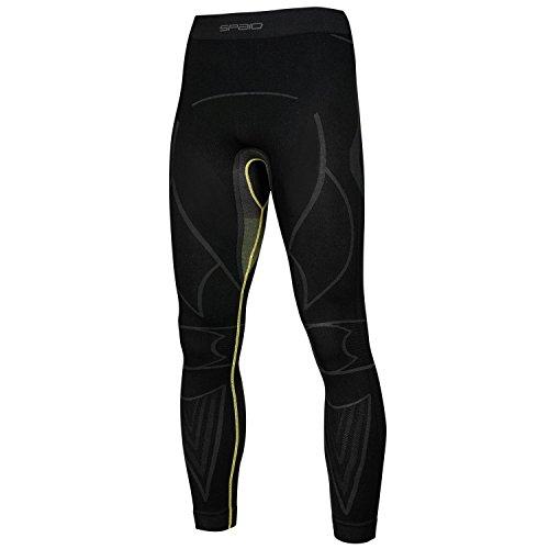 SPAIO Extreme Line Pantalon Thermique pour Homme Fonction Parure Pantalon sous-vêtement de Ski XXL Gris - Grey Yellow