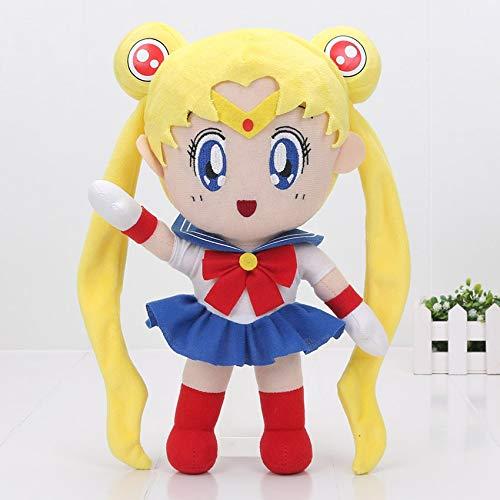 zjq Peluche 20Cm Sailor Moon Giocattoli Peluche per Bambini Bambole Farcite Morbide Regalo di Compleanno per Bambini