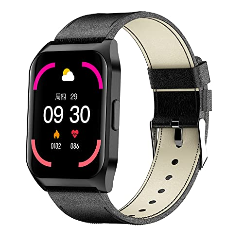 QFSLR Reloj Inteligente Mujer Hombre, Smartwatch con Llamada Bluetooth Monitor De Frecuencia...