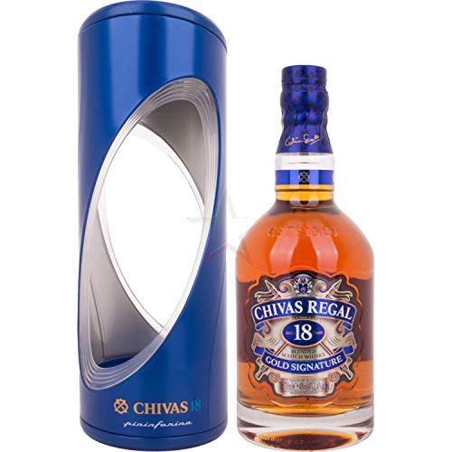 Chivas Regal Scotch 18 Years Old Gold Signature Pininfarina Edition Whisky mit Geschenkverpackung (1 x 0.7 l)