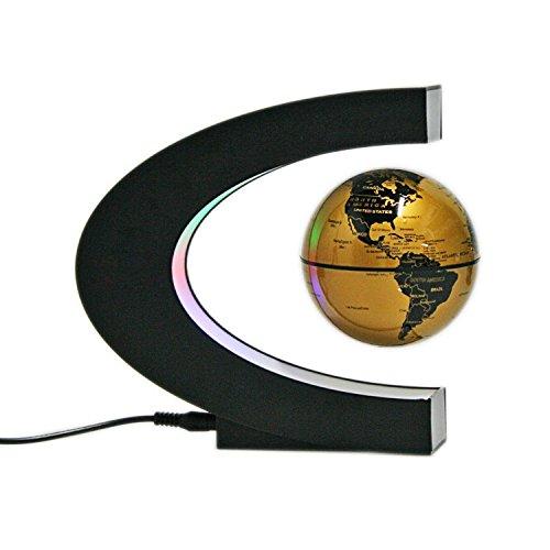 DORSION Globen Licht Magnetische Levitation Schwimmende Globus Weltkarte für Dekoration (Gold)