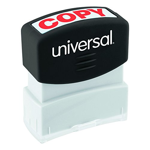 Universal 10048 Message Stamp, COPY, Pre-Inked One-Color, Red