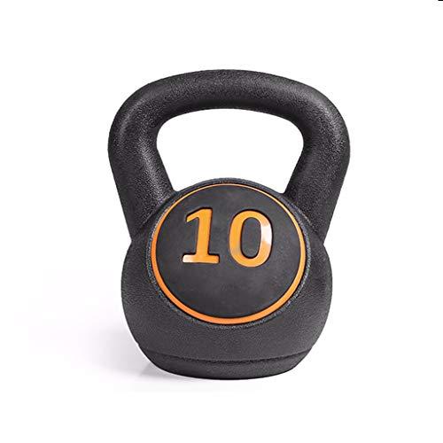 LTINN Poids Kettlebell, Poids Disponible 5,10,15 Lbs, Kettlebell pour La Force, La Forme Physique Et L'entraînement Croisé, Noir