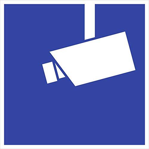 Schild Video Infozeichen gemäß DIN 33450 Alu 18 x 18 cm (Videoüberwachung, Kamera, Videokamera) wetterfest