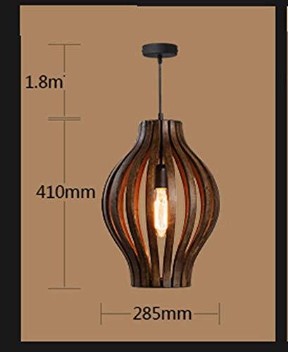 E-L Lámpara de Techo Lámpara de Bambú Sudeste Asiático Tailandés Rural Ratán Amaderado Luz de Madera Simple Personalidad Retro Madera Maciza Lámpara de Madera Creativo Simple