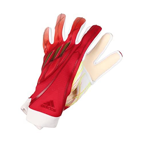 adidas X GL Pro J - Guanti da portiere, unisex, rosso/bianco/rosso/ammasol (multicolore), 7