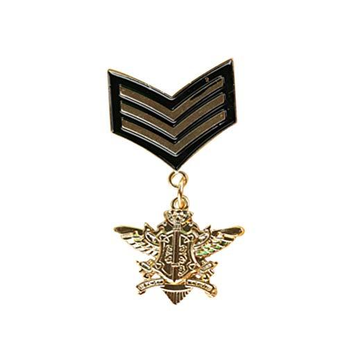 FENICAL Broche Medalla Militar Broches Pines Militar Pins y Adornos Traje para Hombres