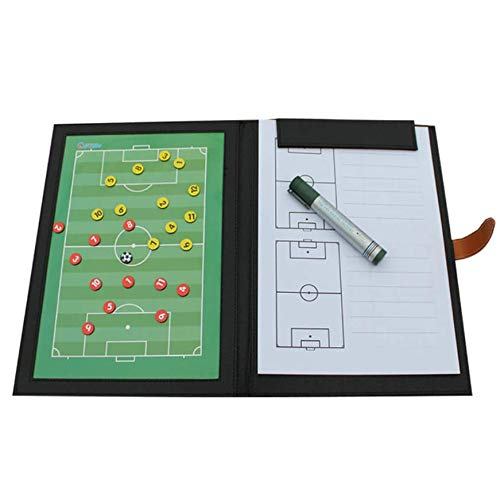 WANGYONGQI Coaching Board Foldable Football Tactic Board Magnetic Soccer Coach Tactical Plate Book Set mit Pen Clipboard Football Supplies