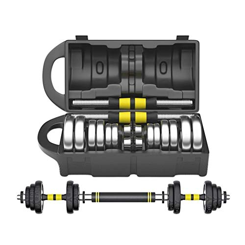 Juego de mancuernas de entrenamiento, un par grande de 15 kg, 20 kg / 30 kg, ajustable, de hierro, con conector, para gimnasio, hogar, entrenamiento de culturismo, entrenamiento de hombre y mujer
