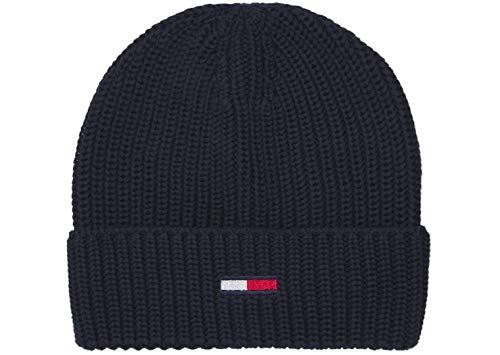 Tommy Hilfiger Herren TJM Basic Flag Rib Beanie Hut, Zwielichtmarine, OS