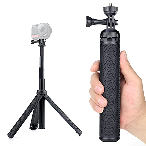 YALLSAME Aluminum Waterproof Selfie Stick for GoPro Max Hero 10 9 8 7 6 5 4 3 2 Fusion Session AKASO SJCAM DJI OSMO Action Camera, Used as Extendable Telescoping Monopod Pole Hand Grip Tripod Stand