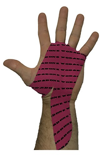 WOD&DONE Custom Hand Protection Athletic Grips for Pullups, Functional Fitness, Gymnastics (Fuchsia, 20pk)