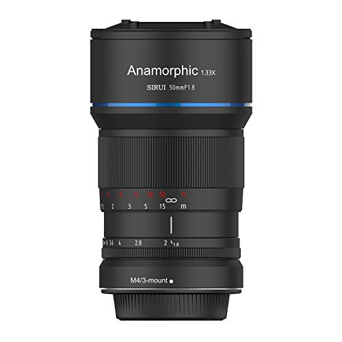 SIRUI 50mm f1.8 Anamorphes Objektiv 1.33x -  MFT m4/3 Mount
