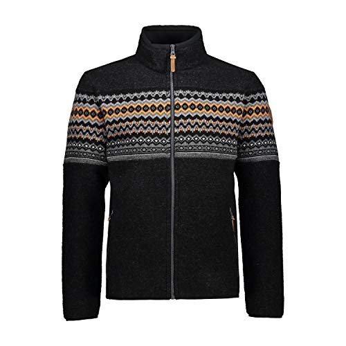 CMP Giacca Wooltech Interno in Lana Chaqueta, Hombre, Carbone M, 48