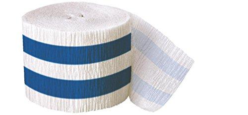 Una de las partes 30 ft tiras de papel crepé Serpentinas (azul real)