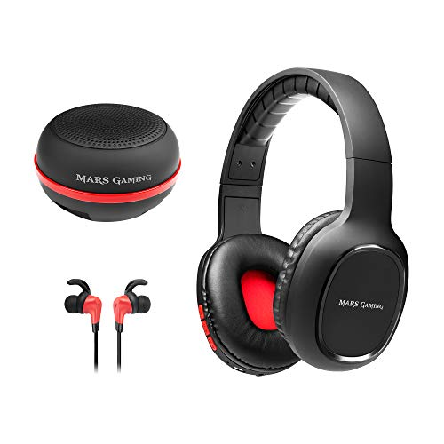 Mars Gaming MHBTX, 3in1 Wireless-Pack, Helme + In-Ear-Kopfhörer + Lautsprecher