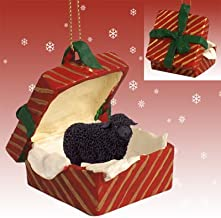 Conversation Concepts Black Sheep Christmas Ornament Red Gift Box