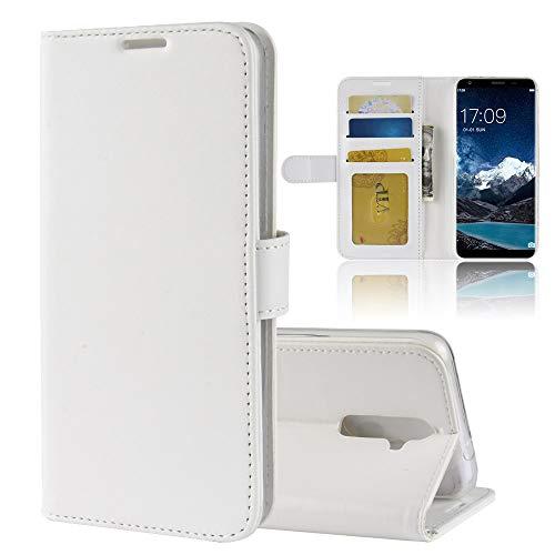 MINGYOUNG Leder Hülle für oukitel K5,Flip Hülle Wallet Stylish mit Magnetisch Ledertasche SchutzHülle für handyHülle fürn Cover (Weiß)