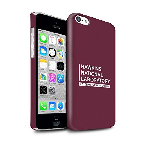 Stuff4 Duro Snap On beschermhoes/Cover/Case/telefoon voor Apple iPhone 5C / rood/laboratorium nazionale Hawkins ontwerp