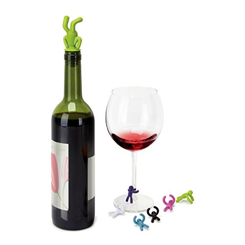 Umbra Wine Drinking Buddy 7 Peice Set Assorted Colors