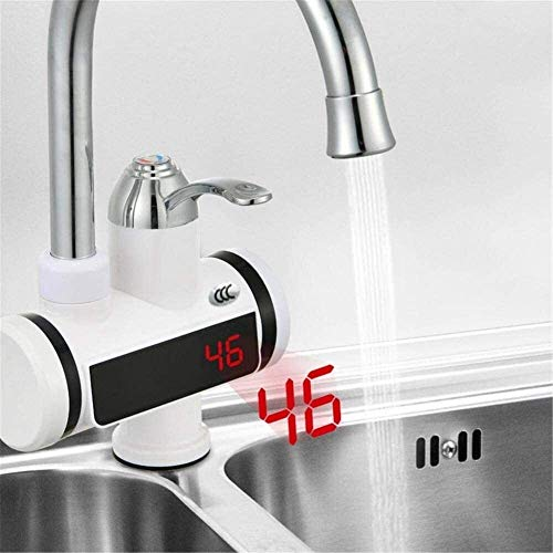 UOMUN Spin Electric Faucet Cocina Calentador de Agua eléctrica Grifo Sin Tanque de Calentador de Agua Instantáneo Grifo para la Cocina Baño (Size : B)
