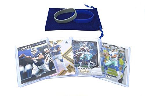 Dak Prescott Football Cards Gift Bundle - Dallas Cowboys (5) Assorted Trading Cards