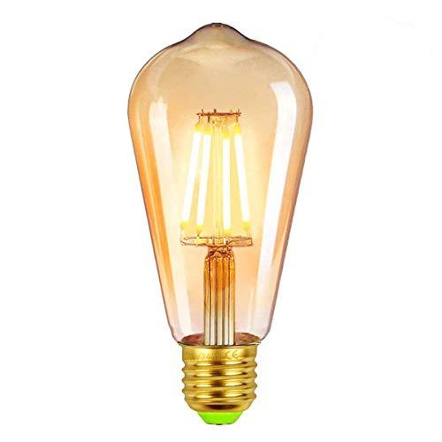 Edison Vintage Glühbirne, Edison LED Lampe Warmweiß E27 4W Retro Glühbirne Vintage Antike Glühbirne Ideal für Nostalgie und Retro Beleuchtung im Haus Café Bar usw - 6 Stück [Energieklasse A++] (4)