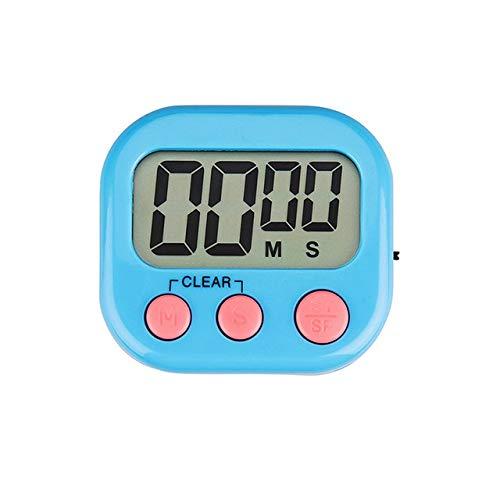 Digital-Küche-Timer Big Digits Lauter Alarm magnetische Rückseite Ständer mit großer LCD-Display for Kochen Backe Sportspiele (Color : Blue)