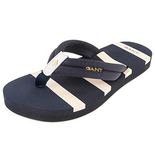 GANT Footwear Damen LEMONBEACH Zehentrenner, Blau (Marine G69), 40 EU