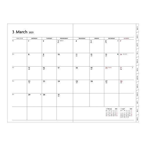 マークス手帳2021スケジュール帳ダイアリーEDiT週間バーチカル2021年3月始まりB6変型スープルペールアイリス21SDR-ETF01-PBL