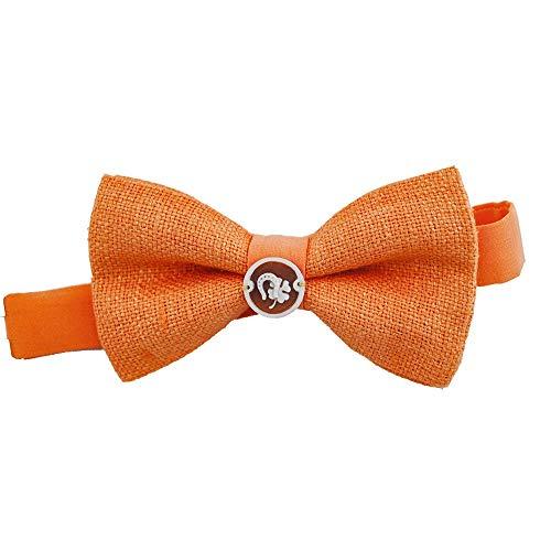 pajarita para hombre Seda bourette Naranja camafeo símbolos fortuna producto artesanal de regalo testigos Matrimonio np3nqfm