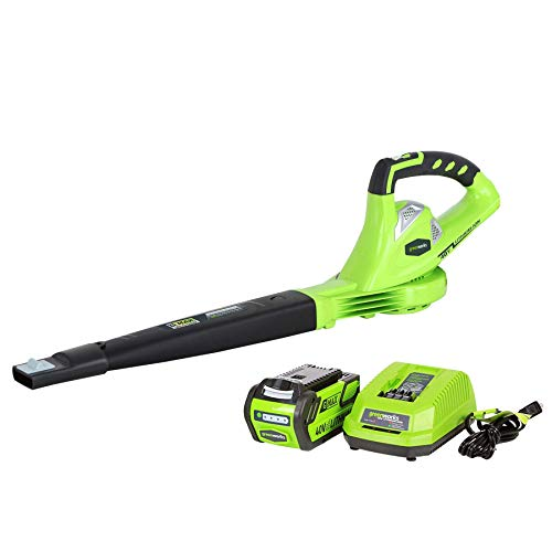 Greenworks 40V 150 MPH Cordless Sweeper, 4.0 AH Battery Included 24212 (Renewed)