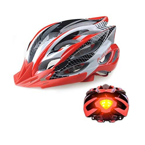 DaMuZ Réglable Casque de Vélo Unisexe Spécialisés avec feu arrière à LED de sécurité Casque de VTT de Protection Ultraléger Montagne et Route pour VTC et VTT Adultes Hommes et Femmes