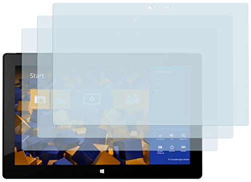 mumbi Schutzfolie kompatibel mit Microsoft Surface Pro/Pro 2 Folie klar, Bildschirmschutzfolie (3X)