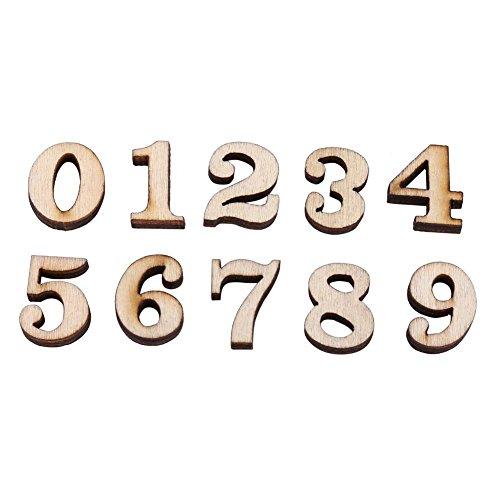 200 Unids Mixta De Madera A-Z Letras / 0-9 Números para DIY Craft Home Decor Niños Juguetes Educativos Educativos Tempranos Juegos(Números)