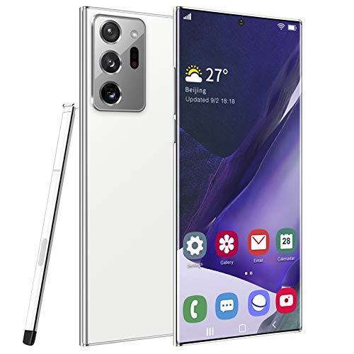 Smartphone para Android 10.0,Note20U 6.9In Teléfono móvil de doble tarjeta con pantalla HD,cámara dual frontal y trasera, 6+64G,soporte expandido 128GB,4800mAh,desbloqueo facial(Enchufe de la UE)