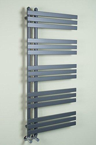 Warmehaus Designer Handtuchheizkörper Badheizkörper 1272 x 600 mm grau