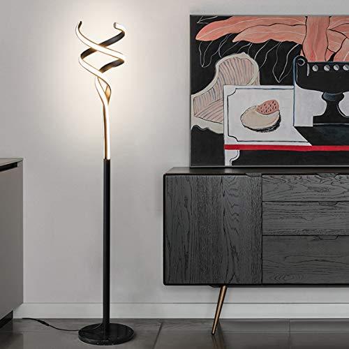 Lámpara De Pie Dimmer LED con Control Remoto Interruptor De Pie Atenuador Dimmer Continuo 3 Temperaturas De Color para Dormitorio Oficina,Negro