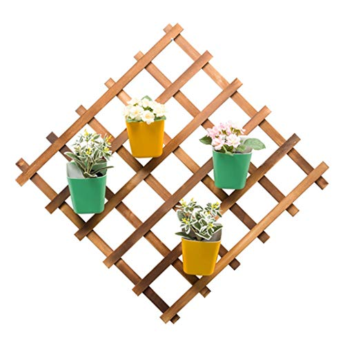WYQ Étagère à Fleurs Support Suspendu de Pot de Fleur de bâti de Mur de Support d'usine, Supports d'usine en Bois de Grille carrée, présentoir de Fleur de Plante Supports de Pots