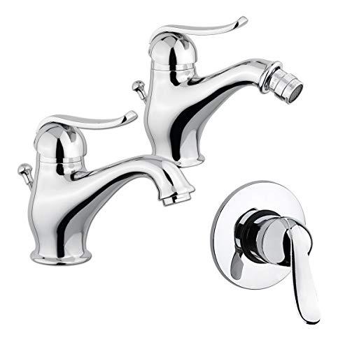 Yellowshop - Set Miscelatori lavabo bidet incasso doccia marca Oioli mod. EPOCA