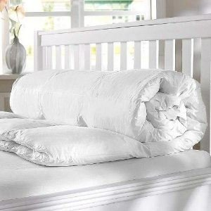 Luxurious White Canadian Goose Feather & Fine Down Duvet Quilt, Double Size, 10.5 tog - Mountain Moose Co.