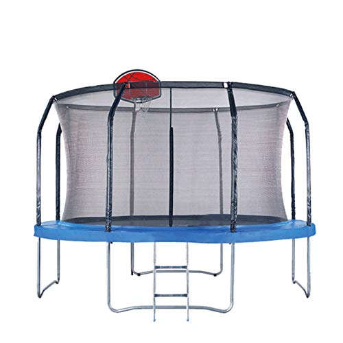 sunyu Cama elástica de diámetro 3,05 m (10 Pies), Trampolín para el jardín, Red de Seguridad, Postes Rectos Acolchados, Sin aro de Baloncesto