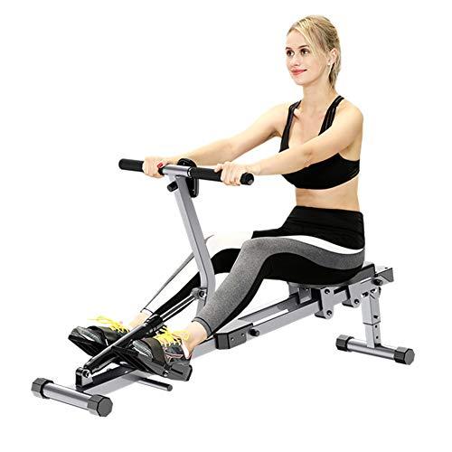 ZHANGY Rameur Pliable intérieur avec 12 résistances réglables Home Gym Workout Fitness Equipment Abdominal Pectoral Arm Training Aerobic,Argent