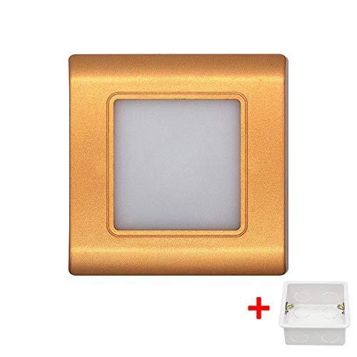 Led-trap, wandlamp, vierkant, inbouw, etc, lamp, verlichting met 86 type box