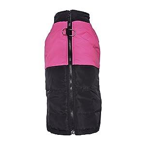 Lesypet Temps froid Vest For Dogs moyennes et aux grandes Safe Guard fermeture à glissière coupe-vent