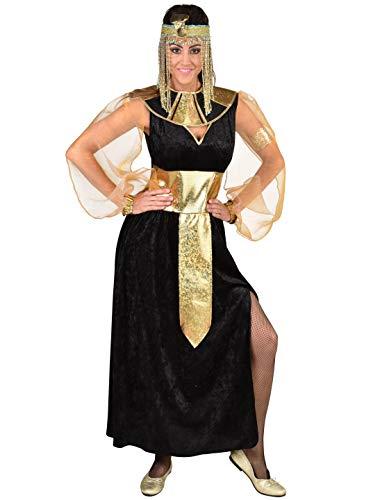 MAGIC BY FREDDYS Cleopatra - Vestido para mujer, color negro y dorado, talla S/M