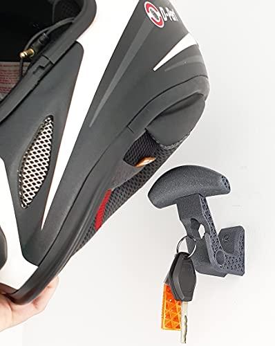 Soporte Casco de Moto. Perchero para Casco de Moto. Gancho para Colgar el Casco de Moto y la Chaqueta de la Pared. (2 Unidades)