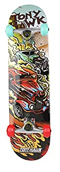 31  Tony Hawk Signature Series Skateboard 9 - Ply Maple Deck Skateboard for Cruising Carving Tricks and Downhill